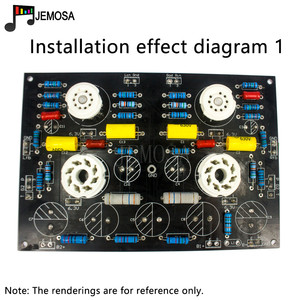 Image 2 - DIY projeleri ses tek uçlu amplifikatörler kurulu 185*125 FR4 PCB kartı EL34 kurulu ücretsiz kargo