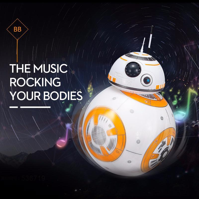 1pc Star Upgrade Rc Bb8 Robot With Sound And Dancing Action Figure Toys 2.4g Remote Control Wars Bb-8 Robot Intelligent Ball Toy