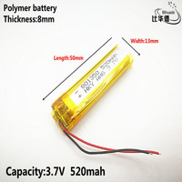 Liter energy battery Good Qulity 3.7V,520mAH,801350 Polymer lithium ion / Li-ion battery for TOY,POWER BANK,GPS,mp3,mp4