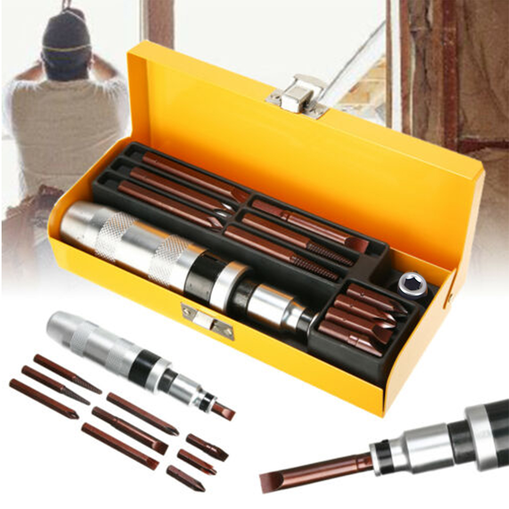 12pcs Hand Tool Professional Practical Non Slip Impact Driver Bits Kit Screwdriver Set Extractor Drill Electric With Case Socket