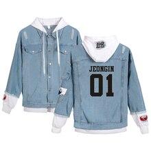Harajuku Stray Kids Yellow Wood Jacket men/women Fashion Denim Jacket