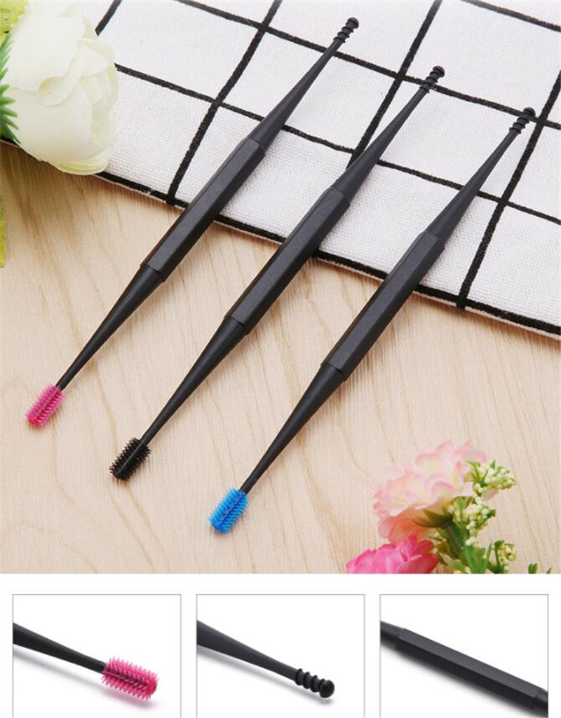 New 500pcs/lot Soft Silicone Ear Pick Double-ended Earpick Ear Wax Curette Remover Ear Cleaner Spoon Spiral Ear Clean Tool