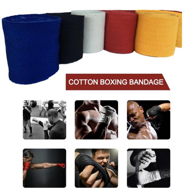 2.5m Cotton Boxing Bandage Wrist Bandage Hand Wrap Combat Protect Boxing Kickboxing Hand Guard Training Gloves 1