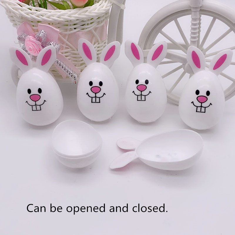 4pcs Easter Egg DIY Cute Bunny Home Decoration Kindergarten Handcraft Educational Kids Toys Christmas Birthday Gift