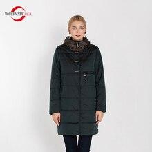 מודרני חדש סאגת 2020 סתיו נשים מעיל ברדס כותנה מרופדת מעיל חורף ארוך מעיל גבירותיי Parka בתוספת גודל חורף מעיל נשים