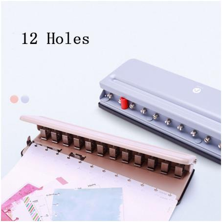 T Hole Round Hole Multi-function Punching Machine Disc Dinding Loose-Leaf Puncher Adjustable Punch Book Mushroom Hole Puncher