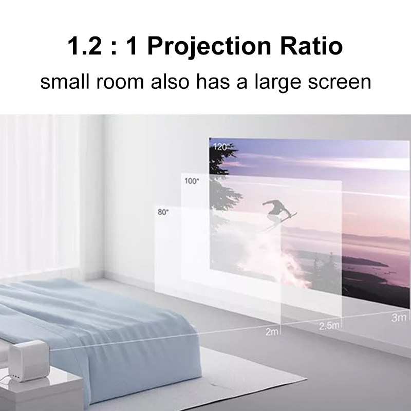 cheapest  Global Version  XIAOMI Mijia 4k Projector EU 3D AI 2 8GB Full HD 1080P 30000 LED Wifi bluetooth SJL4014GL Bracket For Theater