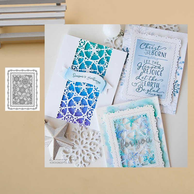 เกล็ดหิมะกรอบโลหะตัดตาย Stencils สำหรับ DIY สมุดภาพกระดาษการ์ดตกแต่ง CRAFT Embossing DIES