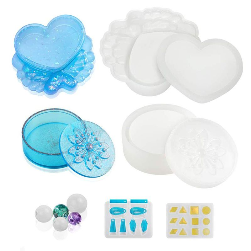 Resin Molds, 7 Pack Silicone Resin Molds For Jewelry