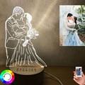 Ночсветильник 3D «сделай сам» под заказ, светодиодная лампа 7 цветов с сенсорным выключателем и фото текстом на заказ, лампы «сделай сам» для ...