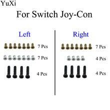 Yuxi полный набор винтов для nintendo switch joy con ns nx консоль