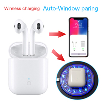 Air MX TWS super bass Bluetooth Headset 1:1 Wireless charger Earphone tws headsets earphones headphones pk i10 i20 i30