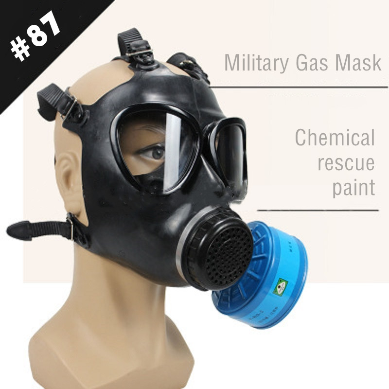 Military Gas Mask Type 87 New Police CS Anti-terrorism Mask Respirator Chemical Prevention Nuclear Pollution Painting Spray Mask