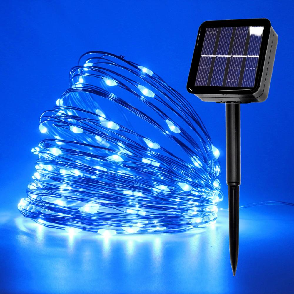 100/200/500 LED Outdoor Solar Lamps LED String Lights Fairy Holiday Christmas Party Garlands Solar Garden Waterproof Lights