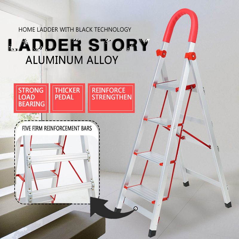 It Is Suitable To Thicken Domestic Ladder With High Aluminum Alloy, Four Or Five Steps, Folding Ladder,Stair,Stainless Steel