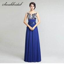 Elegante até o chão formal vestidos de noite chiffon vestidos de festa longos com apliques e lantejoulas venda quente sd159