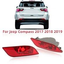 Araba arka tampon jip için lamba pusula 2017 2018 2019 reflektör ışık sis arka fren lambası kuyruk lambası araba montaj aksesuarları