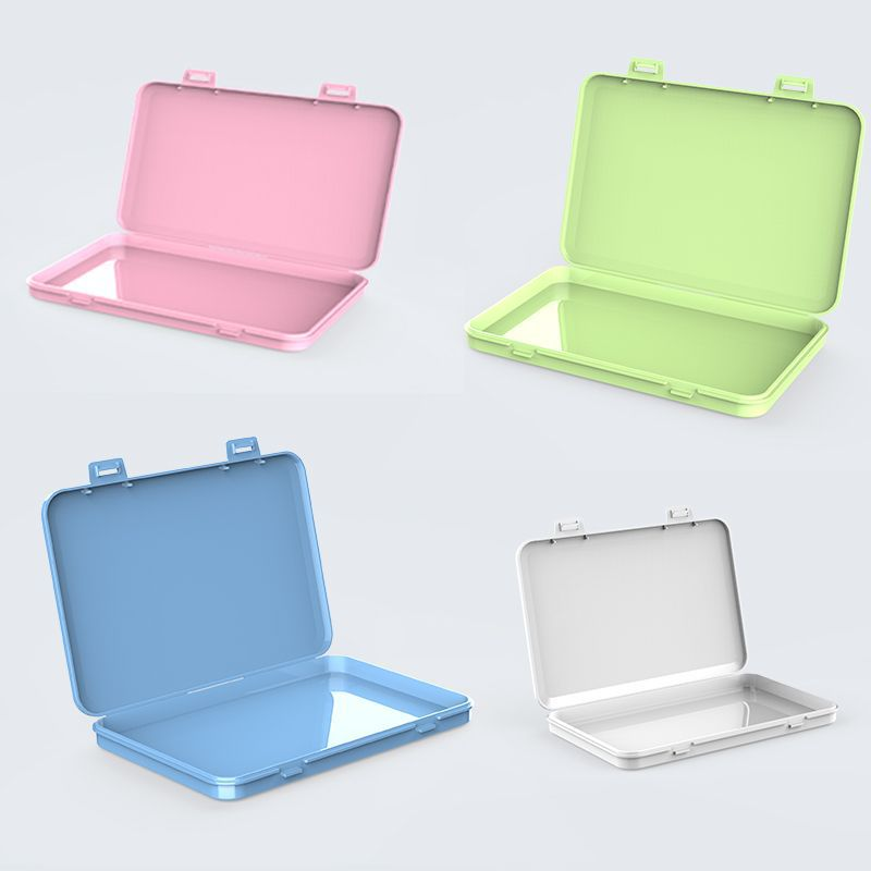 N95 Simple Mask Storage Box Student Creative Mask Storage Organizer Waterproof Dustproof KN95 Face Mask Storage Case Container(China)