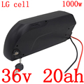 36V 20AH batterie de vélo électrique 36V 13ah 14ah 17ah 20ah batterie au Lithium utiliser LG cellule pour 36V 250W 350W 500W 1000W ebike moteur