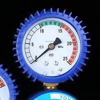 0-2.5 mpa à prova de choque oxigênio acetileno medidor de alívio de pressão medidor de gás garrafa válvula de argônio calibre acetileno regulador de pressão s24