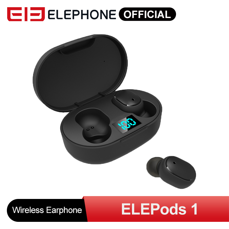 ELEPHONE ELEPODS 1 Earphone TWS Earphone LED Display Wireless Earphone Voice Control Bluetooth 5.0 Noise Reduction Tap Control