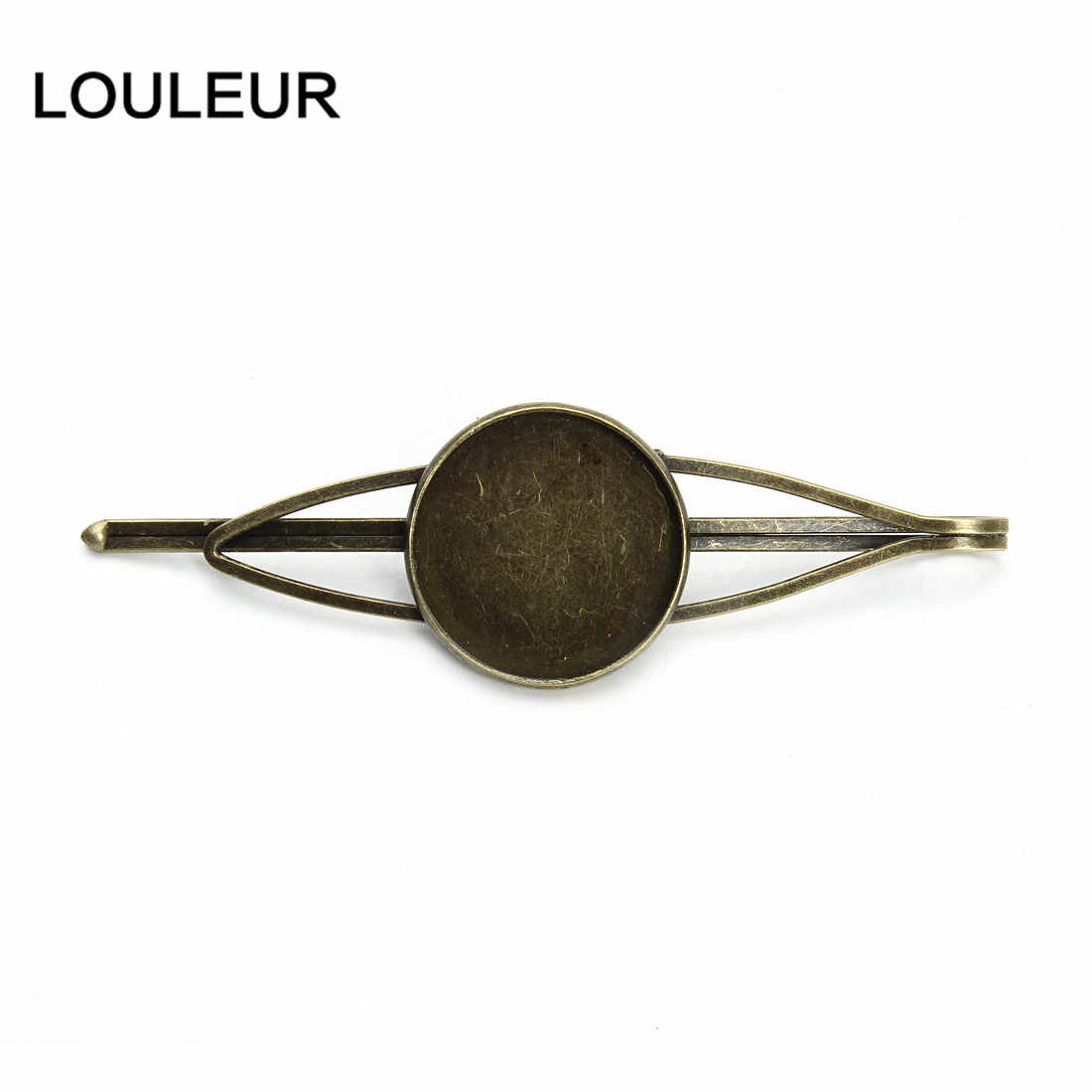 New Fashion 10pcs Vintage Antique Bronze Hair Clips Settings Hairpins Cabochon Cameo Base for Womens DIY Hair Tray Accessories