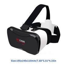 3D Vr Glass Virtual Reality Glasses Vr Cases 5 Plus 3D Glass Immersive 3D Eyes Vr Headset Smart Phone(China)