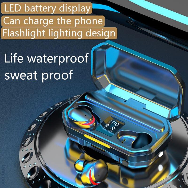 Беспроводной наушники TWS Bluetooth наушники 3500 мАч спортивная водонепроницаемая гарнитура Hi-Fi 9D бас стерео наушники с микрофонами