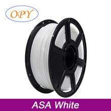 Resistência uv da impressora 3d do filamento de asa 1.75mm 1kg linha plástica 10m 100g amostra preto branco
