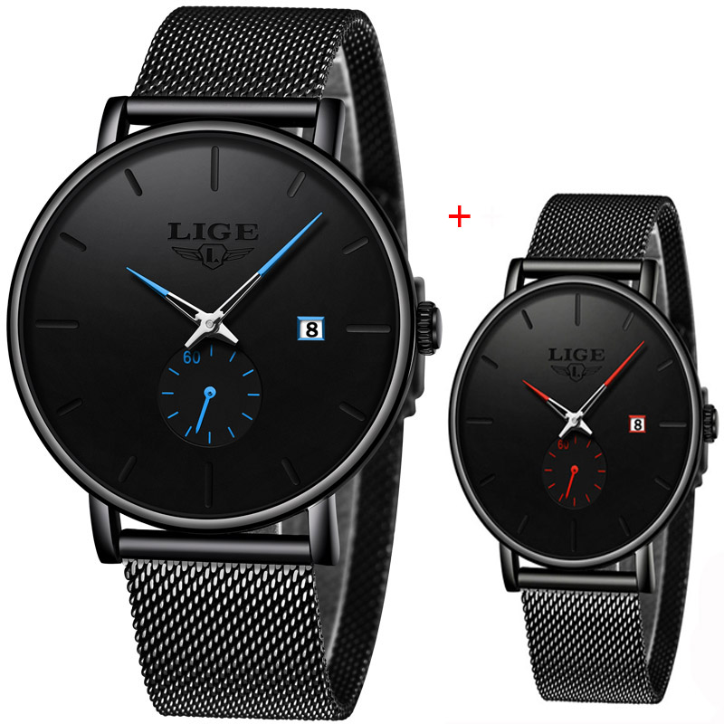 Relojes Para Hombre LIGE Watch With Men's Watch Top Brand Luxury Famous Dress Casual Fashion Watch Neutral Ultra-thin Watch +Box