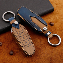 sncn leather car key case cover key wallet bag keychain holder for porsche 718 boxster cayman 911 cayenne macan panamera Leather Car Key Case Cover Shell For Porsche Cayenne Macan 911 Boxster Cayman Panamera  key cover car styling