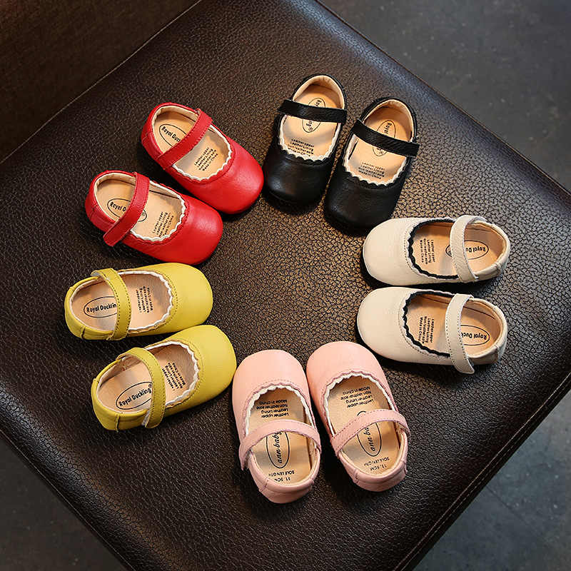 Toddler Baby Girls Princess Leather Shoes  Children boys Infant Soft  Solid Color Leisure Shoes boys autumn SW005