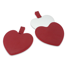 Makeup-Mirror Cosmetic Compact-Pocket Heart-Shaped Small Girl Portable Pattern for Women