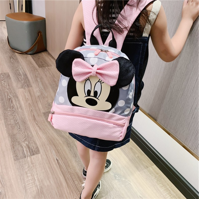 New Kids Bag Kindergarten Children Cartoon Mickey School Bags Pink Minnie Backpack Princess Schoolbags Satchel For Boys Girls
