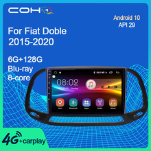 COHO Fiat Doblo 2015 2020 araba multimedya oynatıcı radyo Gps navigasyon Android 10 Octa çekirdek 6 + 128G