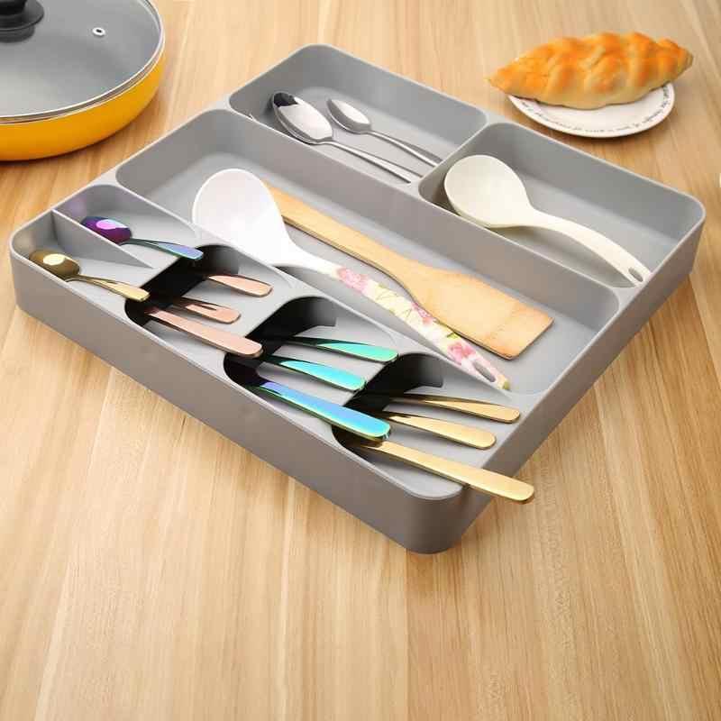 มีดครัวลิ้นชักถาดช้อนส้อมช้อนส้อมช้อนส้อมช้อนส้อมแยก Finishing กล่องเก็บของบนโต๊ะอาหารห้องครัวอุปกรณ์เสริม