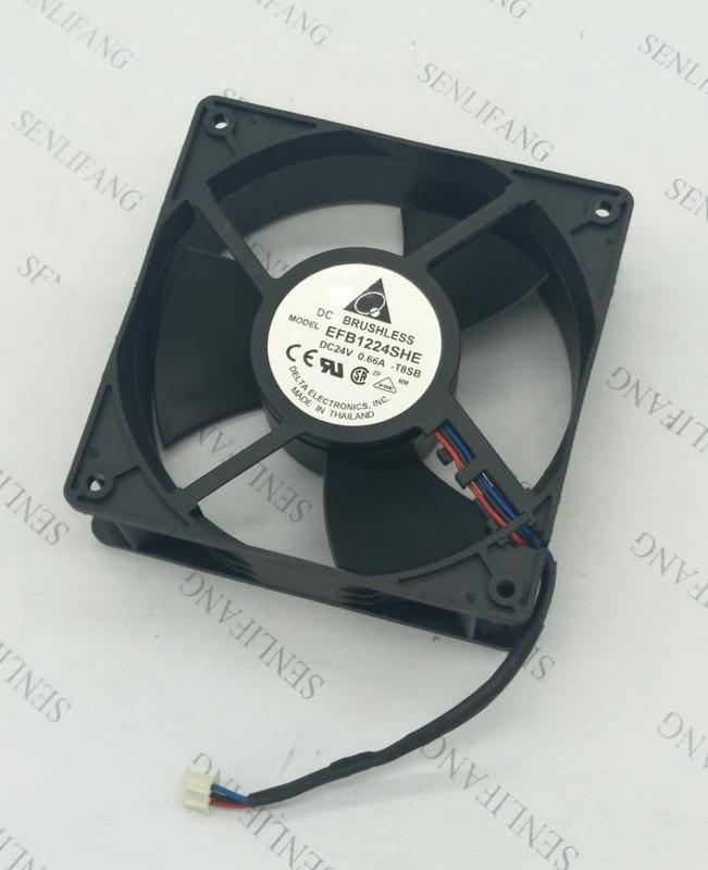 For EFB1224SHE T8SB DC 24V 0.66A 120x120x38mm Capacitance Fan CT Inverter