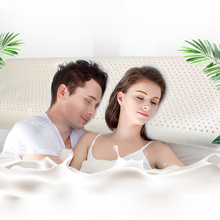 Couple Pillow Natural Latex Orthopedic Cervical Neck Support Side Sleeper Sleeping Pillows for Bedroom with Polyester Pillowcase