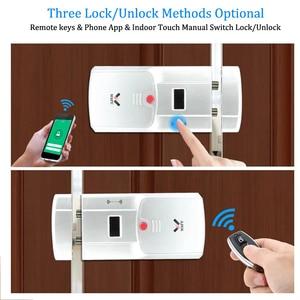 Image 4 - WAFU WF 011W Unsichtbare Keyless Smart Türschloss 433MHz Elektronische Türschloss Unterstützung iOS Android APP WIFI Steuerung Entriegeln