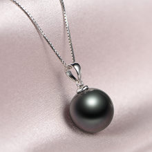Prosta kobieta czarna perła naszyjnik klasyczny kolor srebrny naszyjniki ślubne dla kobiet modny długi naszyjnik z łańcuszkiem dla nowożeńców