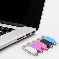 Minilector de tarjetas Micro TF Flash 2 en 1, lector de tarjetas SD de Adaptador USB OTG tipo c, lector de tarjetas de memoria para teléfono, ordenador, tableta y portátil