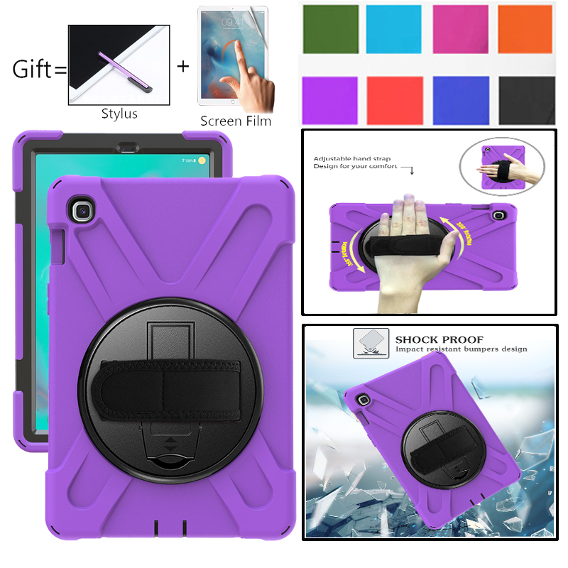 Kids <font><b>Case</b></font> For Samsung Galaxy Tab S5e 10.5 <font><b>Case</b></font> Cover <font><b>T720</b></font> T725 SM-<font><b>T720</b></font> SM-T725 Tablet <font><b>Case</b></font> Shockproof Silicone Funda Hand Strap image