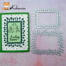Kokorosa Cutting Dies Metal Dies Two Frame Die Scrapbooking Album Card Making Embossing Stencil Diecuts Decoration пакеты бумажные lefard 73 545 23 х 18 х 9 см 10 шт