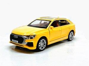 Image 5 - גבוהה סימולציה 1:32 אאודי Q8 עם קול אור למשוך בחזרה סגסוגת צעצוע מכונית דגם צעצועים לילדים מתנות משלוח חינם