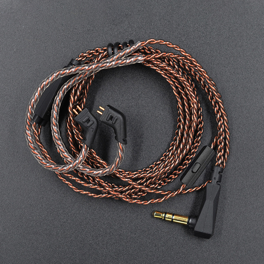 L Plug Wire <font><b>0.75mm</b></font> <font><b>2</b></font> <font><b>Pin</b></font> Accessories Sound Plated Stable Replacement Audio Practical Upgrade Copper Earphones <font><b>Cable</b></font> For KZ ZS5 6 image