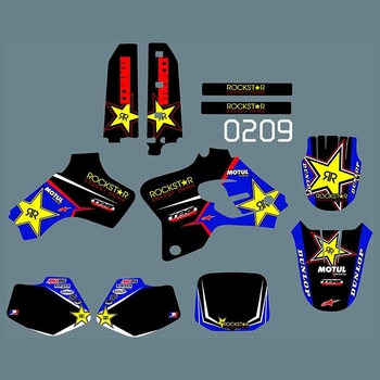 Full Graphics Decals Stickers Kit Custom Number Name Glossy Stickers Waterproof for YAMAHA YZ80 YZ 80 1993-2001