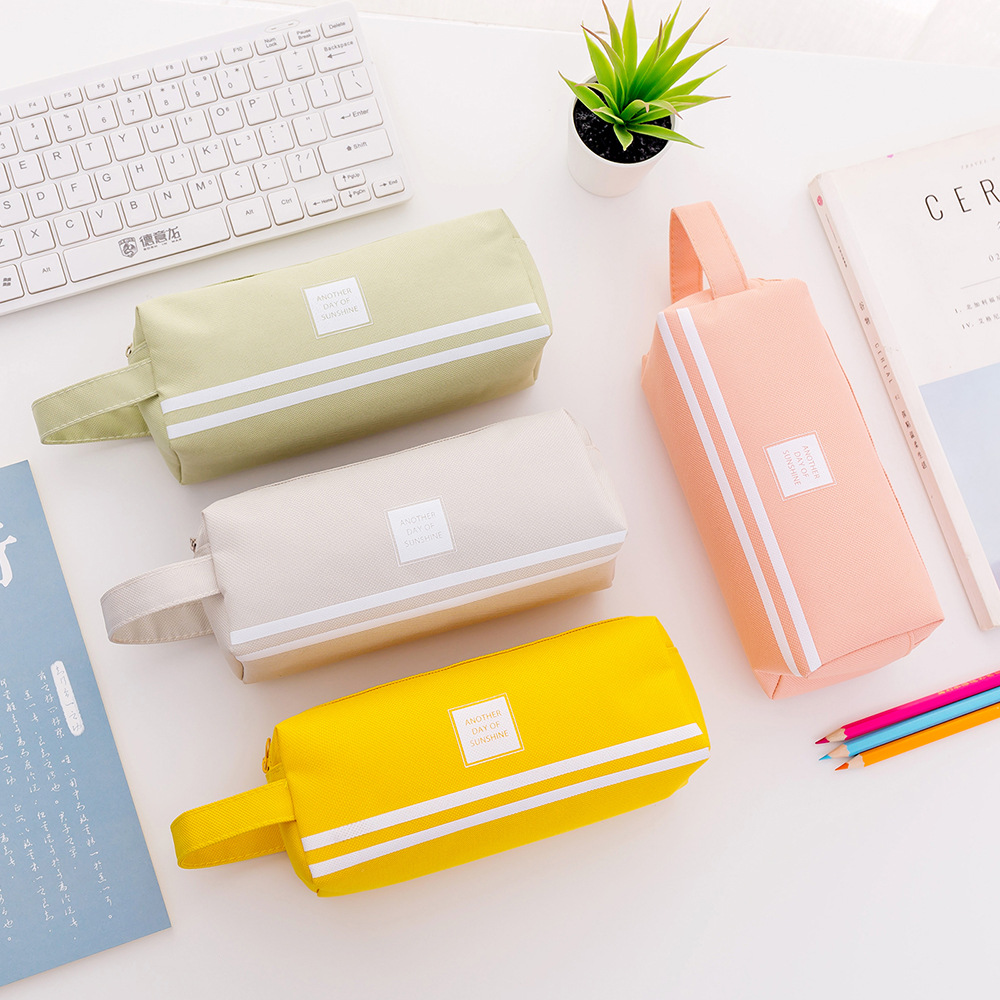 Creative Double Zipper Large Pencil Case Kawaii School Pencilcase Big Pen Box For Girls Gifts Cute Stationery Supplies Bag Etui