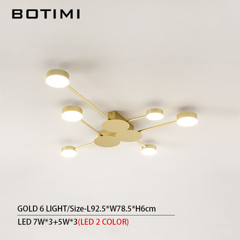 BOTIMI Novelty Metal Irregular Ceiling Lights For Foyer Black Ceiling Lamp Golden Surface Mounted Bedroom Lighting Fixture 13