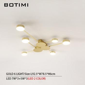 BOTIMI Novelty Metal Irregular Ceiling Lights For Foyer Black Ceiling Lamp Golden Surface Mounted Bedroom Lighting Fixture 13