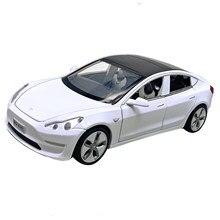 1:32 novo modelo s modelo de tesla model3 x liga carro modelo som luz puxar para trás brinquedo carro para meninos presente decoração